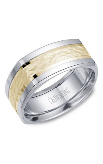 CrownRing Classic and Carved Wedding band WB-9670 product image