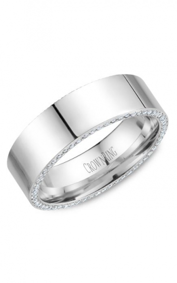 CrownRing Diamond Wedding band WB-033D75W product image