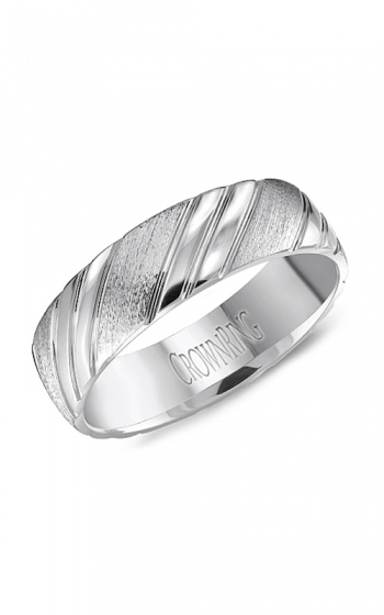 CrownRing Classic and Carved Wedding band WB-8051 product image