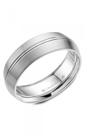 CrownRing Classic and Carved Wedding band WB-063C7W product image