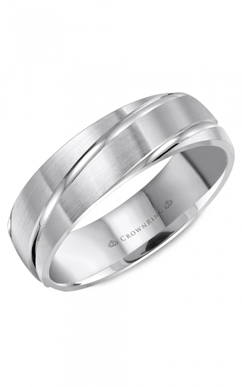 CrownRing Classic and Carved Wedding band WB-8063 product image