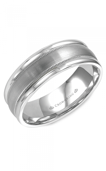 CrownRing Classic and Carved Wedding band WB-9906 product image