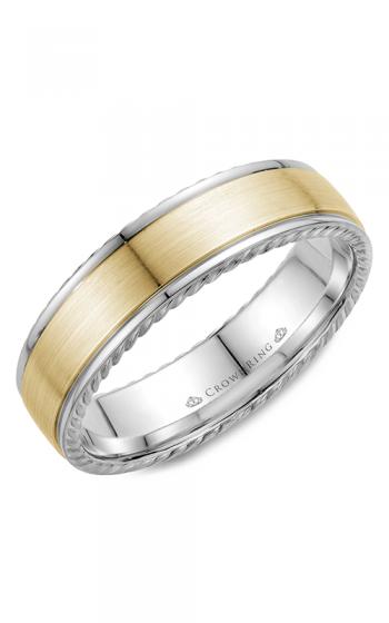 CrownRing Rope Wedding band WB-005R6YW product image