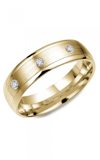 CrownRing Diamond Wedding band WB-7096Y product image