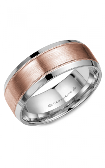 CrownRing Classic and Carved Wedding band WB-8108RW product image
