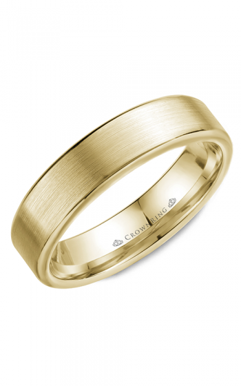 CrownRing Classic and Carved Wedding band WB-9096Y product image
