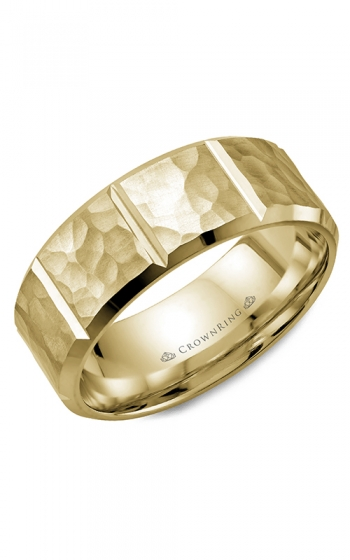 CrownRing Classic and Carved Wedding band WB-9097Y product image