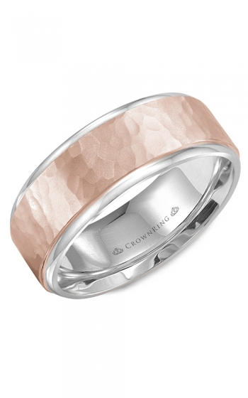 CrownRing Classic and Carved Wedding band WB-9300RW product image