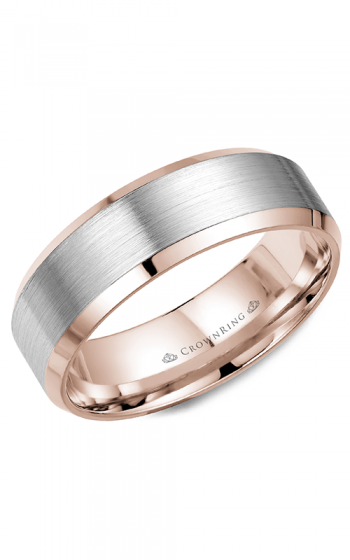 CrownRing Classic and Carved Wedding band WB-9532WR product image
