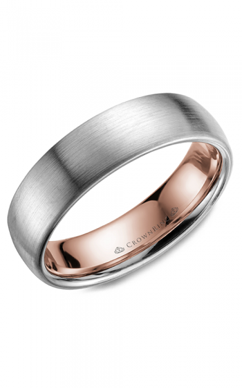 CrownRing Classic and Carved Wedding band WB-039C6WR product image
