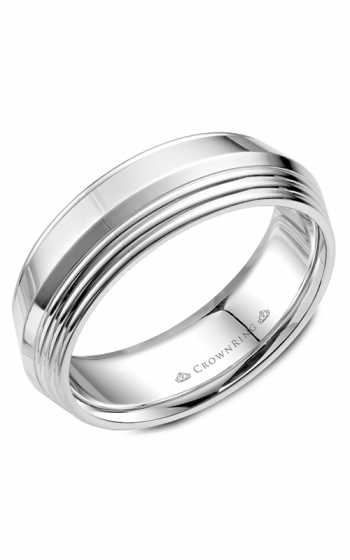 CrownRing Classic and Carved Wedding band WB-055C7W product image