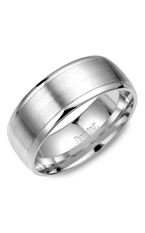 CrownRing Classic and Carved Wedding band WB-7023 product image