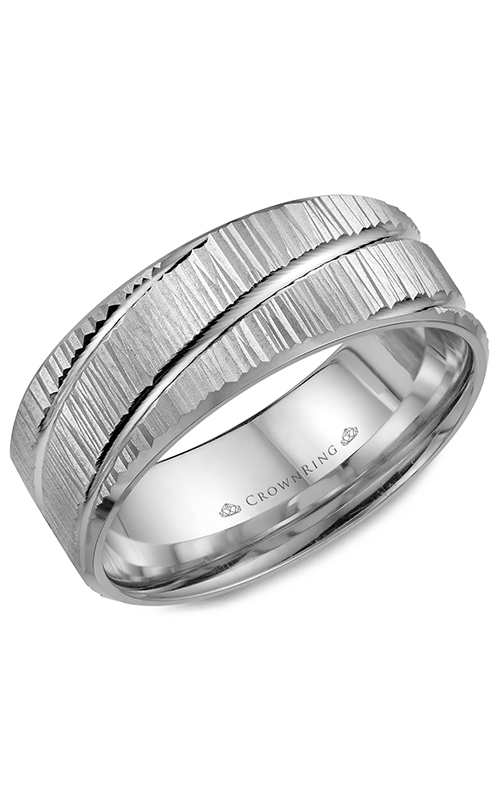 CrownRing Classic and Carved Wedding Band WB-7922 product image