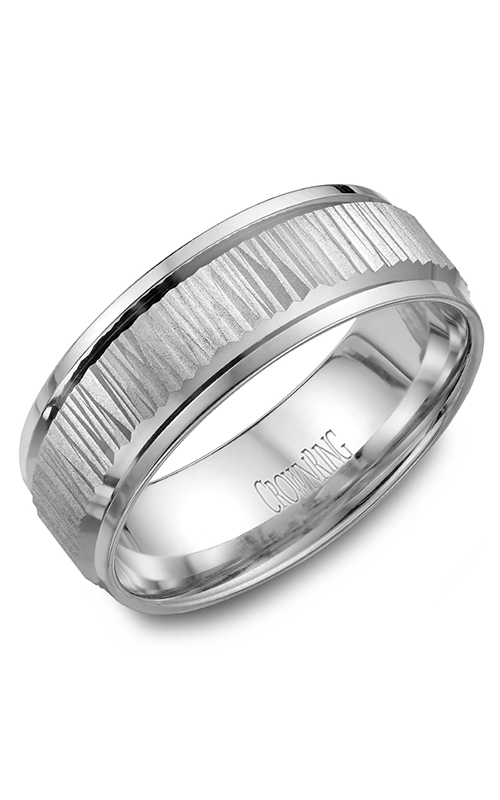CrownRing Classic and Carved Wedding band WB-7923 product image
