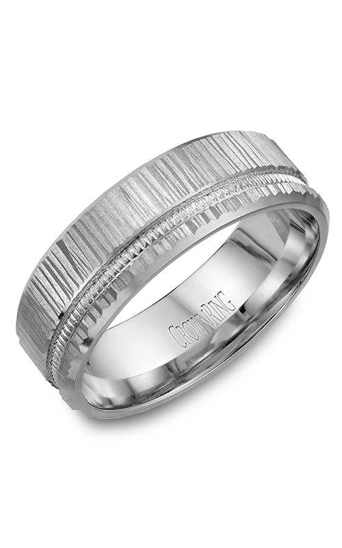 CrownRing Carved Wedding band WB-7924 product image