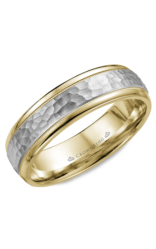 CrownRing Carved Wedding band WB-7926 product image