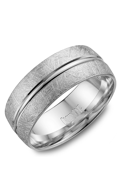 CrownRing Carved Wedding band WB-7935 product image