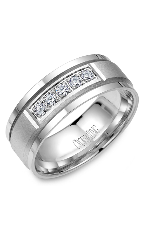CrownRing Diamond Wedding band WB-8038 product image