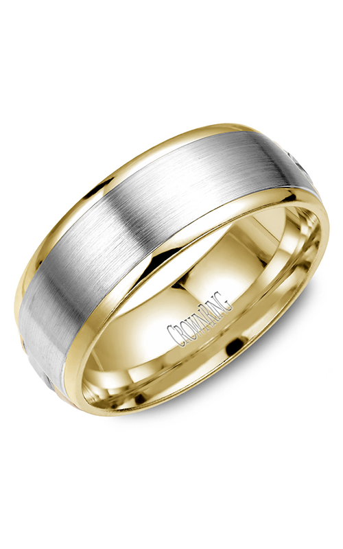 CrownRing Classic and Carved Wedding band WB-8131 product image