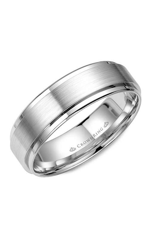CrownRing Classic and Carved Wedding band WB-9034 product image