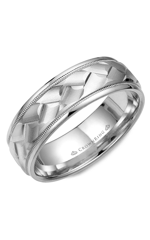 CrownRing Classic and Carved Wedding band WB-9098 product image