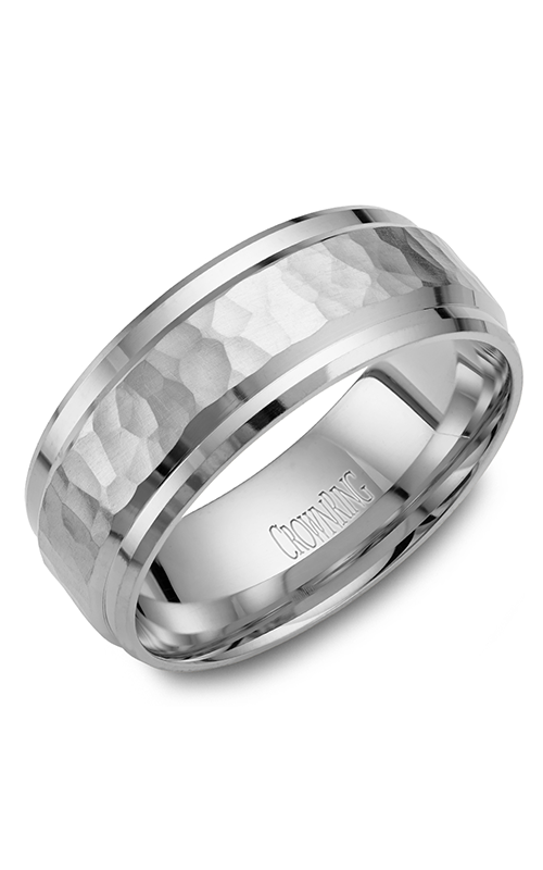 CrownRing Carved Wedding band WB-9550 product image