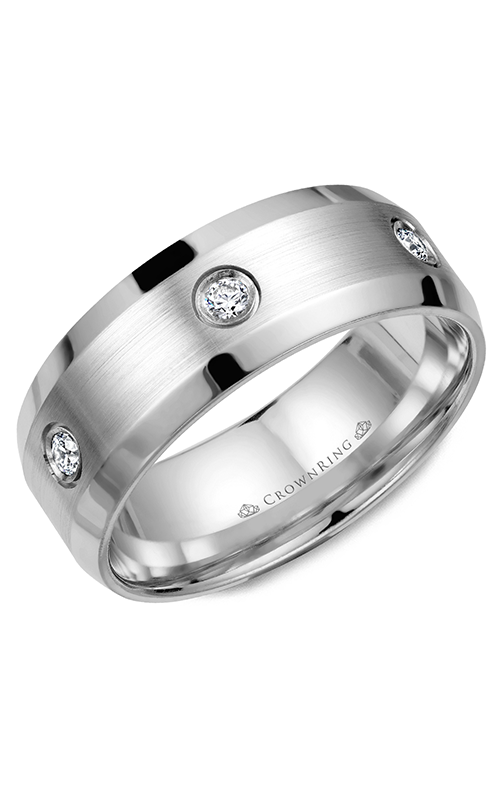 CrownRing Diamond Wedding Band WB-9616W product image