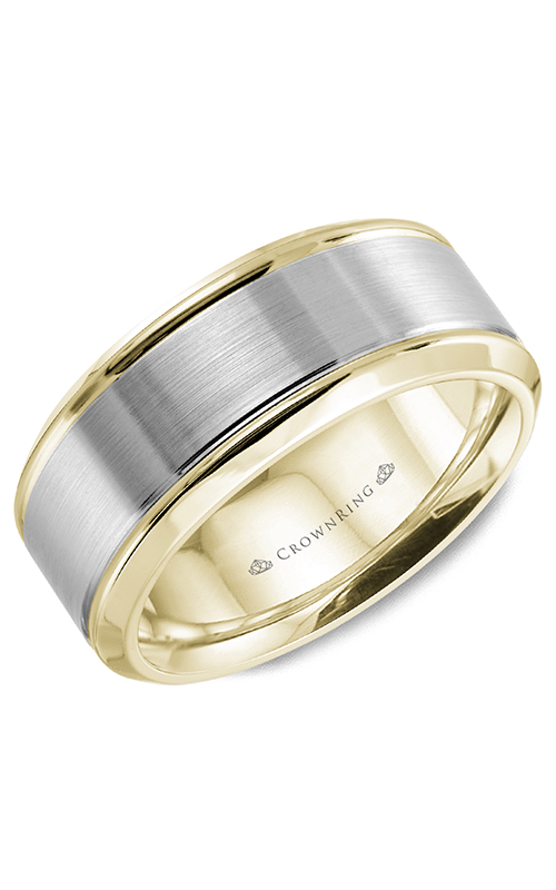 CrownRing Classic and Carved Wedding band WB-9937 product image