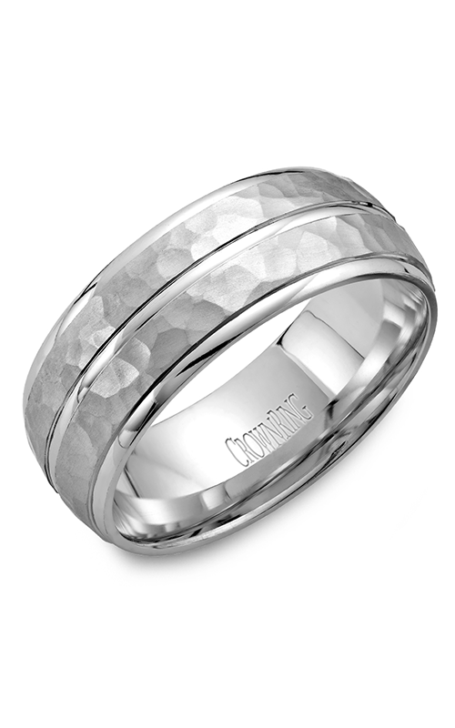 CrownRing Classic and Carved Wedding Band WB-9051 product image