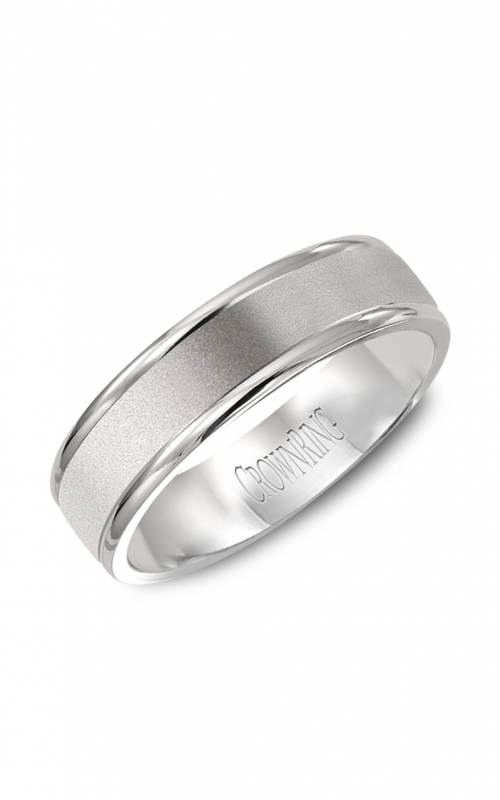 CrownRing Classic and Carved Wedding band WB-6925 product image