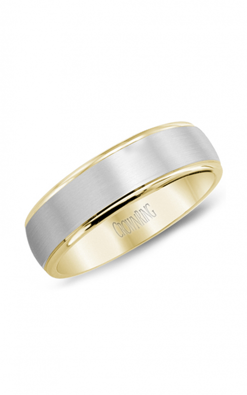 CrownRing Classic and Carved Wedding band WB-7145 product image