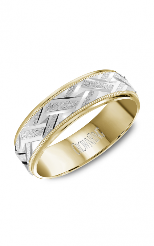 CrownRing Carved Wedding band WB-8071 product image