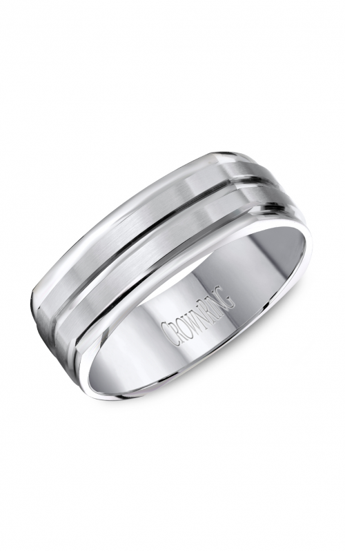 CrownRing Carved Wedding band WB-8092 product image
