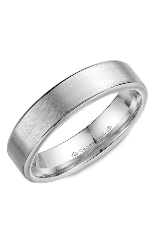 CrownRing Classic and Carved Wedding Band WB-9096 product image