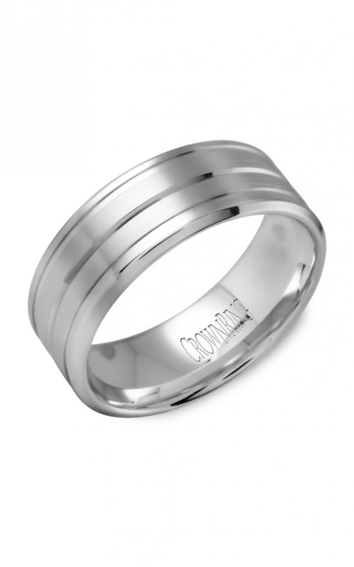 CrownRing Classic and Carved Wedding Band WB-9504 product image