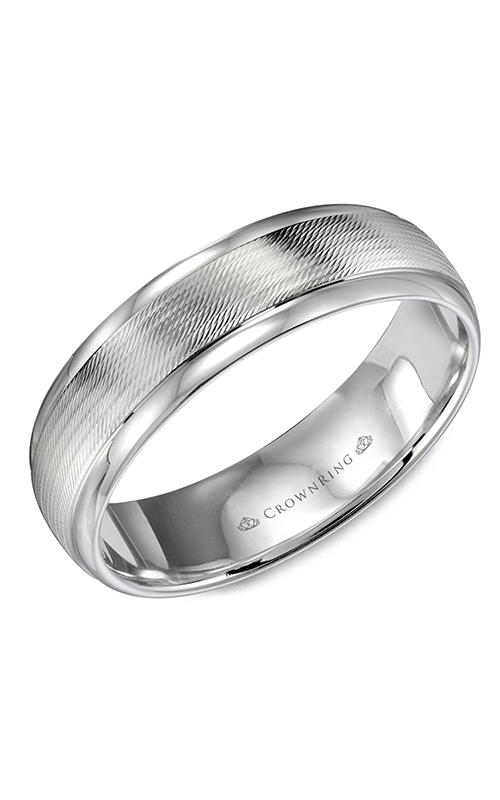 CrownRing Classic and Carved Wedding Band WB-9560 product image