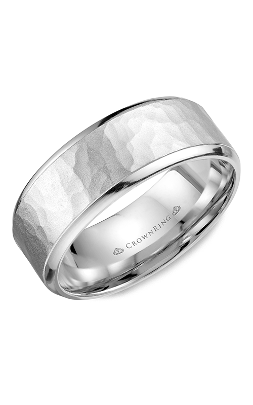 CrownRing Carved Wedding band WB-9968 product image