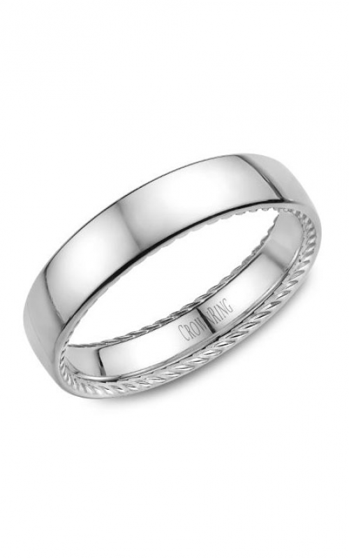 CrownRing Rope Wedding band WB-012R5W product image
