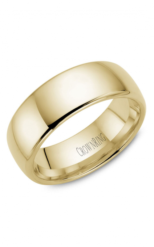 CrownRing Traditional Wedding band TDS14Y8 product image