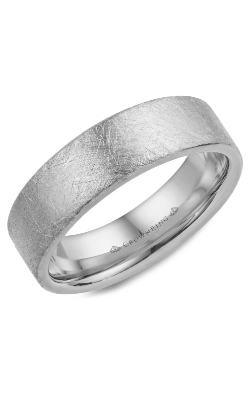 CrownRing Classic and Carved Wedding Band WB-025C6W product image