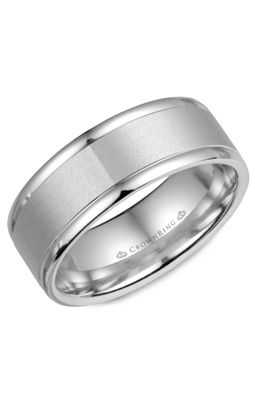 CrownRing Classic and Carved Wedding band WB-7134 product image