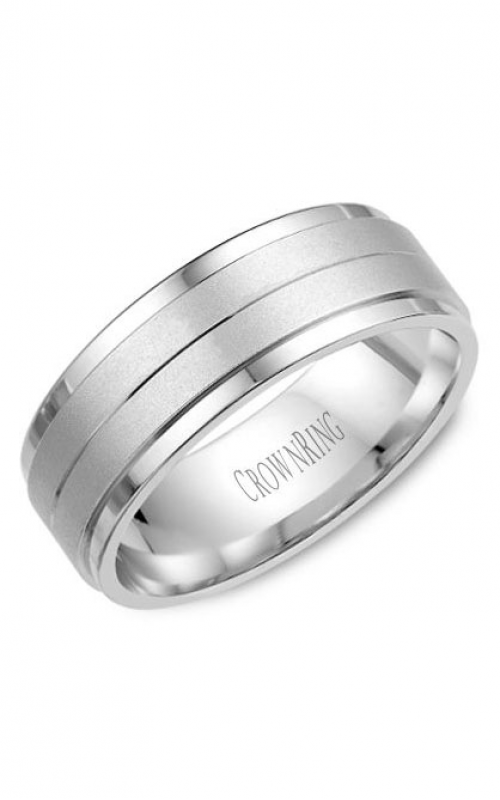 CrownRing Classic and Carved Wedding Band WB-8262 product image