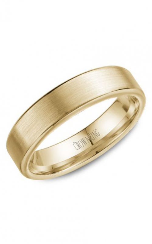CrownRing Classic Wedding band WB-9096Y product image