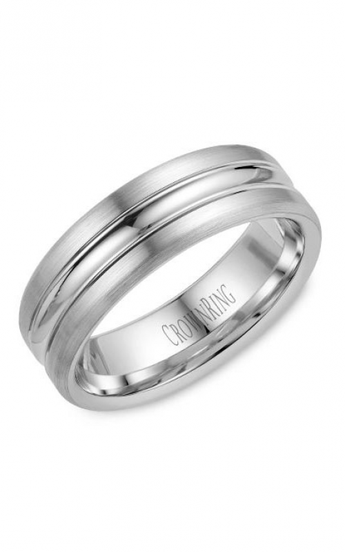 CrownRing Classic and Carved Wedding Band WB-023C7W product image