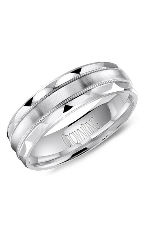 CrownRing Classic and Carved Wedding band WB-8056 product image