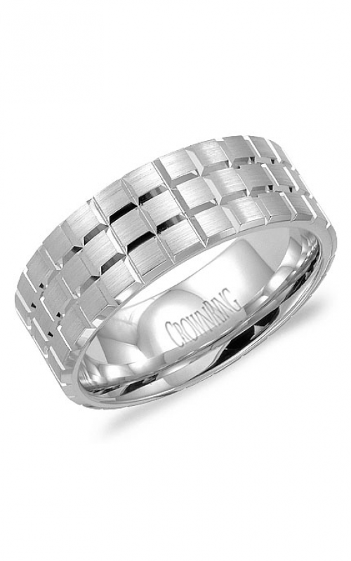 CrownRing Classic and Carved Wedding band WB-8172 product image