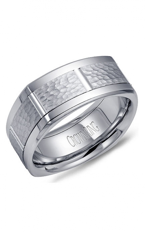 CrownRing Carved Wedding band WB-9621 product image