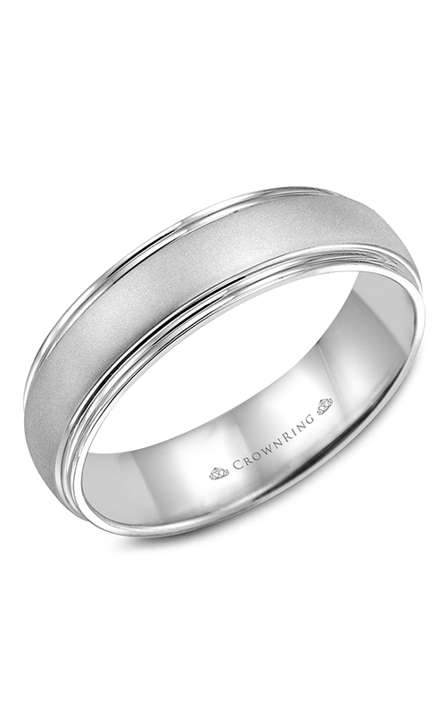 CrownRing Classic and Carved Wedding Band WB-6921 product image