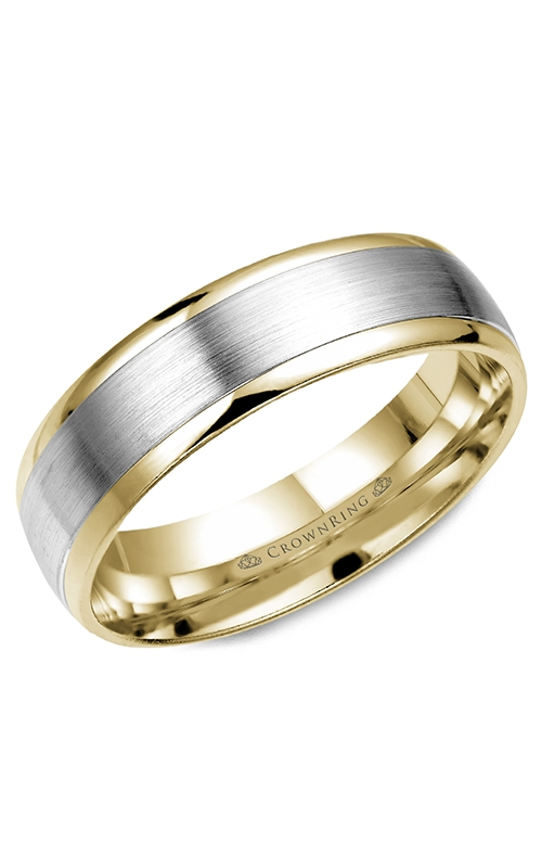 CrownRing Wedding band Classic and Carved WB-7141 product image