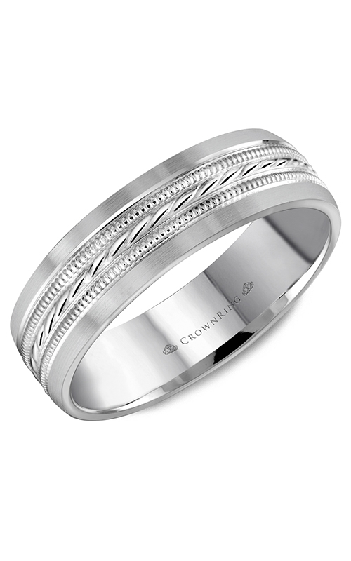 CrownRing Classic and Carved Wedding Band WB-8082 product image